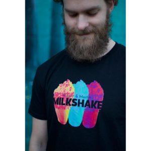 August & Martin - Milkshake - T-skjorte - Sort