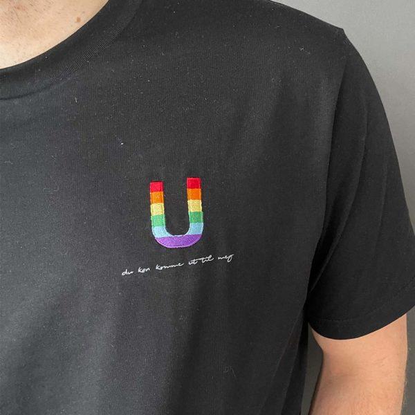 Du kan komme ut til meg - T-skjorte - Sort - Detalj