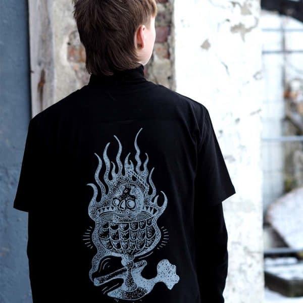Hanekam - Skallebank - Sort - T-skjorte